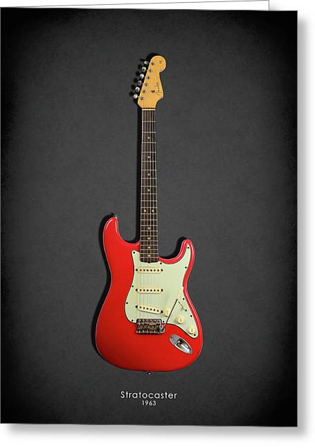 Stratocaster Greeting Cards - Fender Stratocaster 63 Greeting Card by Mark Rogan