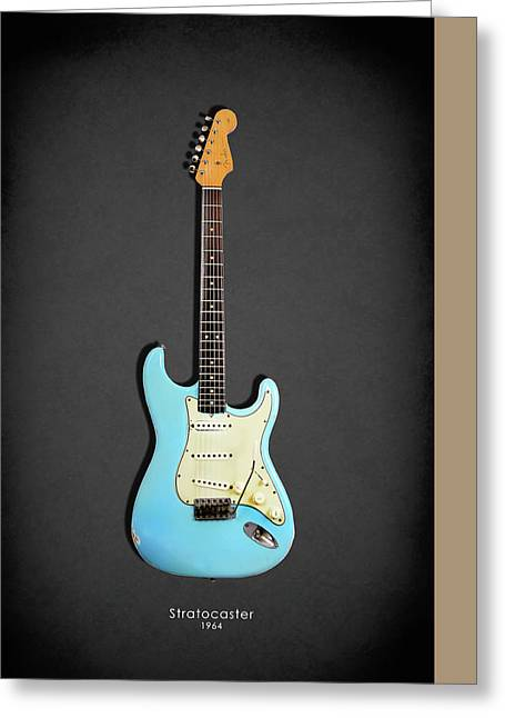 Rock N Roll Photographs Greeting Cards - Fender Stratocaster 64 Greeting Card by Mark Rogan