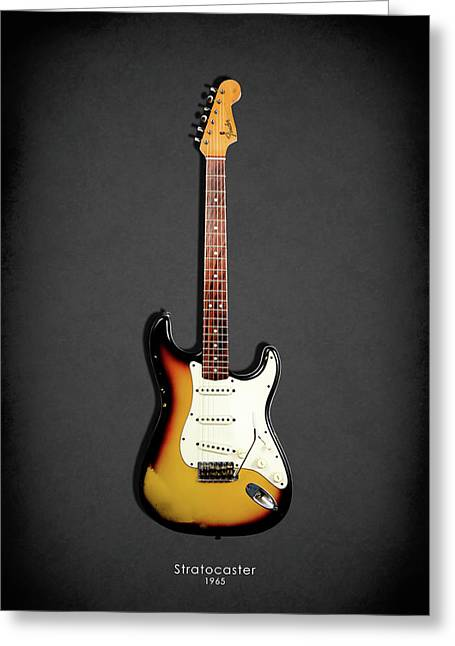 Stratocaster Greeting Cards - Fender Stratocaster 65 Greeting Card by Mark Rogan