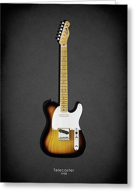 Rock N Roll Greeting Cards - Fender Telecaster 58 Greeting Card by Mark Rogan