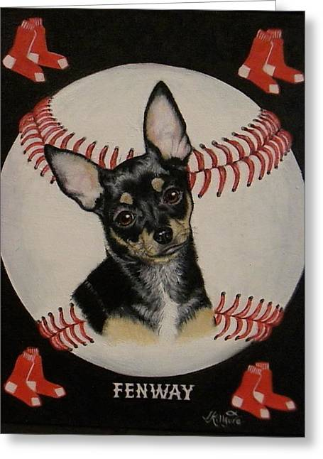 Boston Red Sox Greeting Cards - Fenway Greeting Card by Judith Killgore