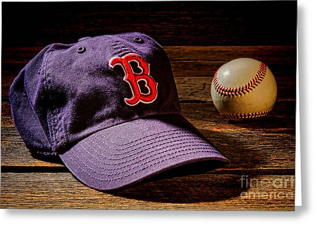 Boston Red Greeting Cards - Fenway Memories Greeting Card by Olivier Le Queinec