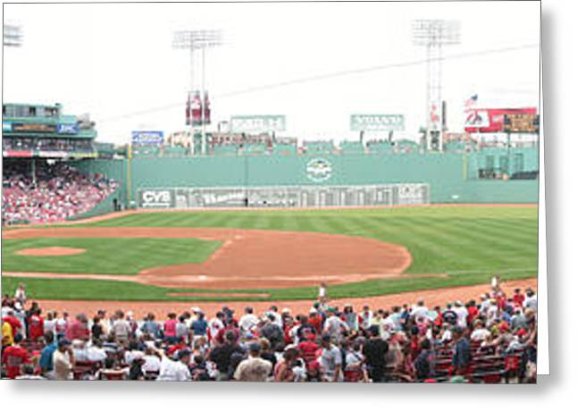 Fenway Park Greeting Cards - Fenway Pano Greeting Card by Rich Tanguay
