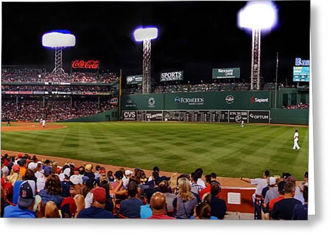 Boston Red Sox Greeting Cards - Fenway Park Boston 0477 Greeting Card by Jeff Stallard