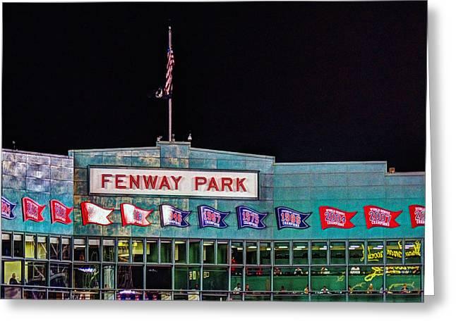 Boston Red Sox Greeting Cards - Fenway Park Boston 0480 Greeting Card by Jeff Stallard