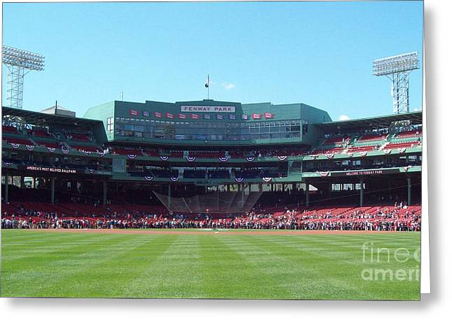 Fenway Park Greeting Cards - Fenway Park Greeting Card by Gina Sullivan