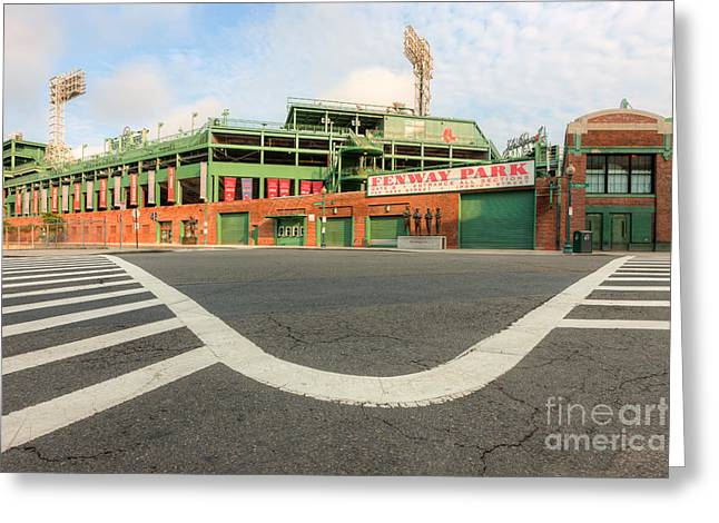 Crosswalk Greeting Cards - Fenway Park III Greeting Card by Clarence Holmes