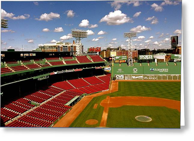 Red Sox Art Greeting Cards - Fenway Park IV  Fenway Park  Greeting Card by Iconic Images Art Gallery David Pucciarelli