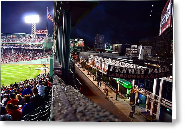Fenway Park Greeting Cards - Fenway Park Greeting Card by Kevin Ouellette