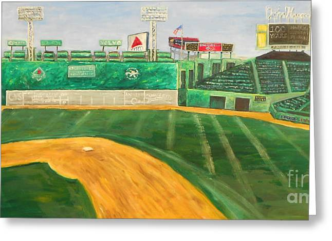 Fenway Park Greeting Card by Kristin St Hilaire