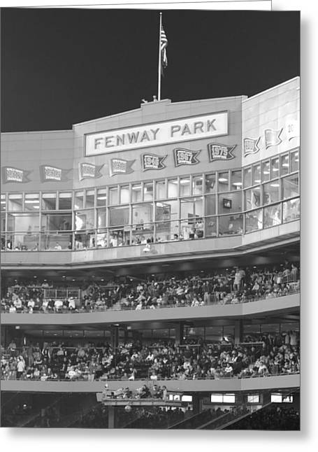 Fenway Park Greeting Card by Lauri Novak