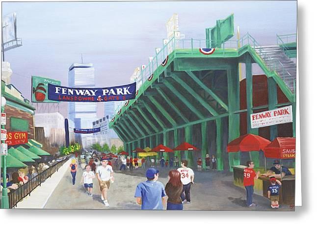 Fenway Park Greeting Card by Lynn Ricci