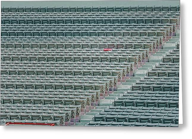Fenway Park Greeting Cards - Fenway Park Red Chair Number 21 Greeting Card by Susan Candelario