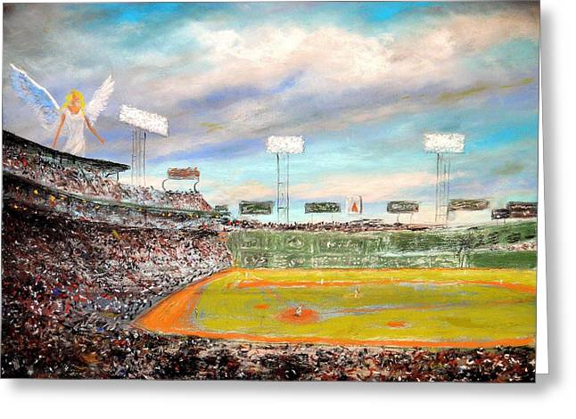 Fenway Park Paintings Greeting Cards - Fenway Park Greeting Card by Robert j Smith