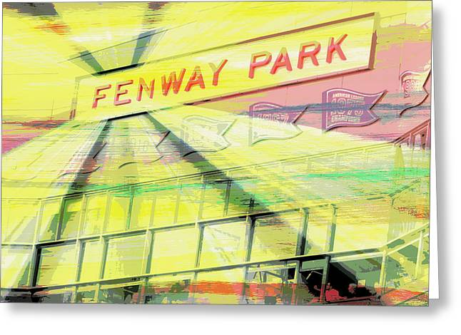 Fenway Park V2 Greeting Card by Brandi Fitzgerald
