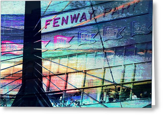 Fenway Park V4 Greeting Card by Brandi Fitzgerald