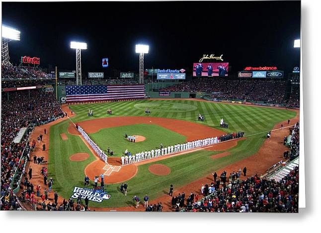 Fenway Park World Series 2013 Greeting Card by Movie Poster Prints