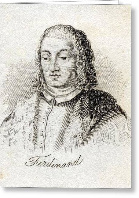 Naples Drawings Greeting Cards - Ferdinand V Called The Catholic Greeting Card by Ken Welsh