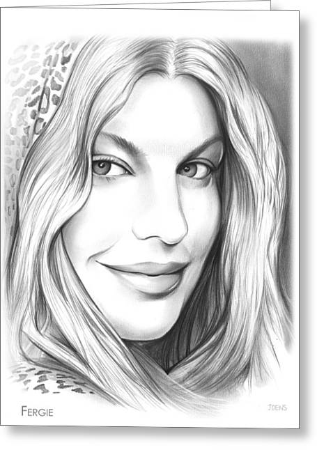 Fergie Greeting Card by Greg Joens