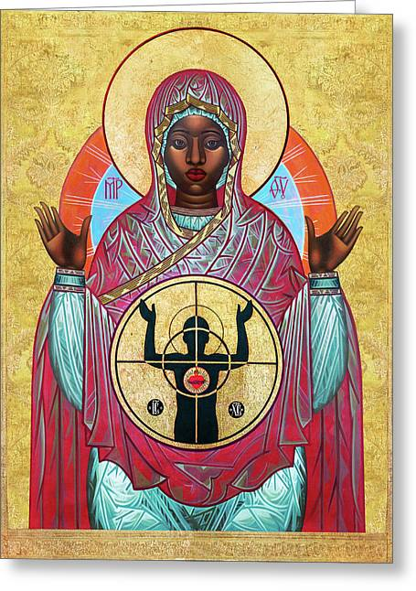 Ferguson Mother Of God. Greeting Card by Mark Dukes