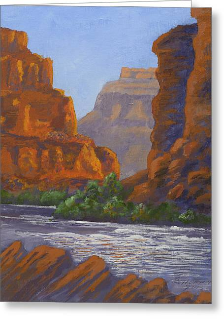 Snow Scene Landscape Greeting Cards - Fern Canyon Confluence with the Colorado in the Grand Canyon Greeting Card by Robert Hoffman
