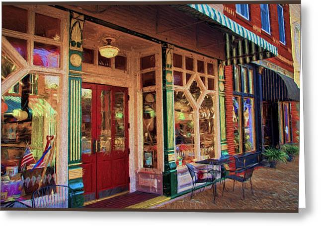 Store Fronts Greeting Cards - Fernandina Storefronts Greeting Card by Dave Bosse