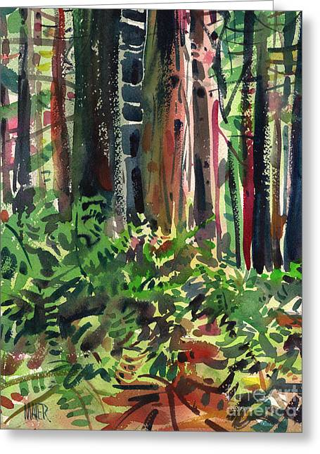 Ferns And Redwoods Greeting Card by Donald Maier