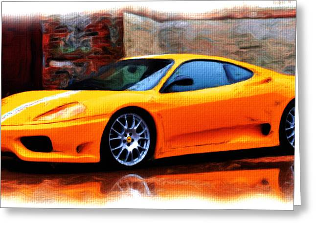 French Open Paintings Greeting Cards - Ferrari 05a Greeting Card by Brian Reaves