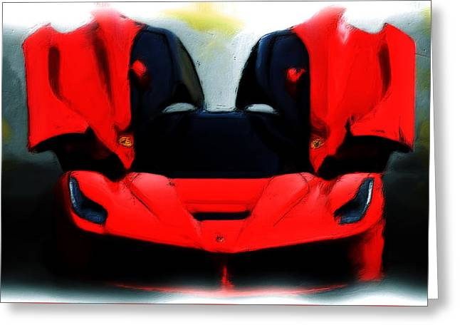 French Open Paintings Greeting Cards - Ferrari 06a Greeting Card by Brian Reaves