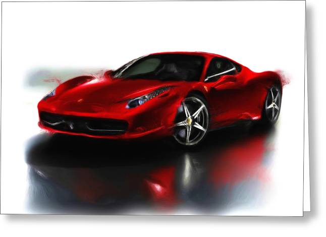 French Open Paintings Greeting Cards - Ferrari 08a Greeting Card by Brian Reaves