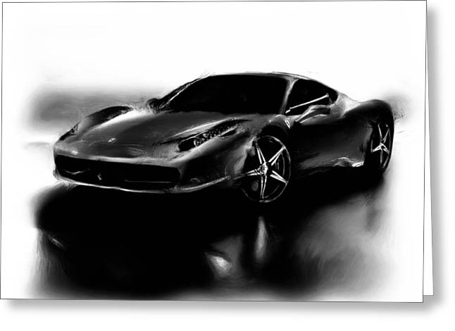 French Open Paintings Greeting Cards - Ferrari 10a Greeting Card by Brian Reaves