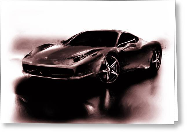 French Open Paintings Greeting Cards - Ferrari 11a Greeting Card by Brian Reaves