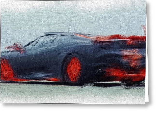 French Open Paintings Greeting Cards - Ferrari 14a Greeting Card by Brian Reaves