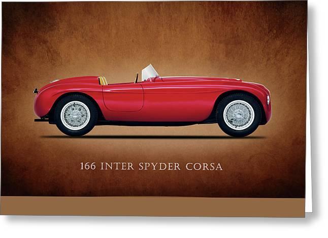 Spyder Greeting Cards - Ferrari 166 Inter Spyder Greeting Card by Mark Rogan