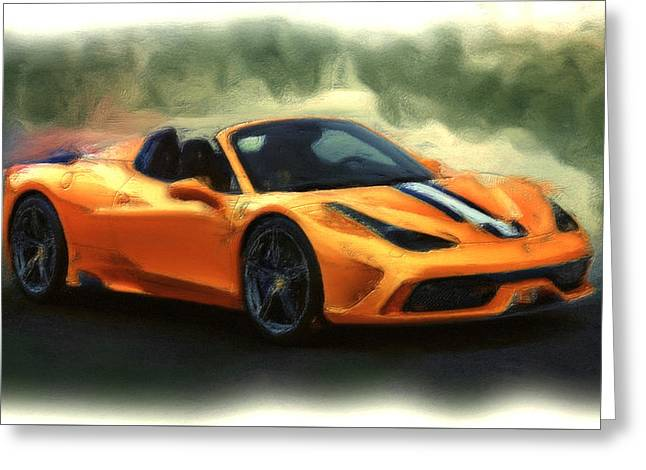 French Open Mixed Media Greeting Cards - Ferrari 1a Greeting Card by Brian Reaves