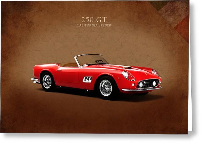 Spyder Greeting Cards - Ferrari 250 GT Greeting Card by Mark Rogan
