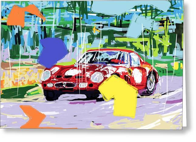 Ferrari 250 Gto Greeting Cards - Ferrari 250 GTO  Greeting Card by Russell Bradley