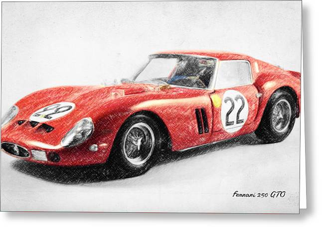 Stirling Moss Greeting Cards - Ferrari 250 GTO Greeting Card by Taylan Soyturk