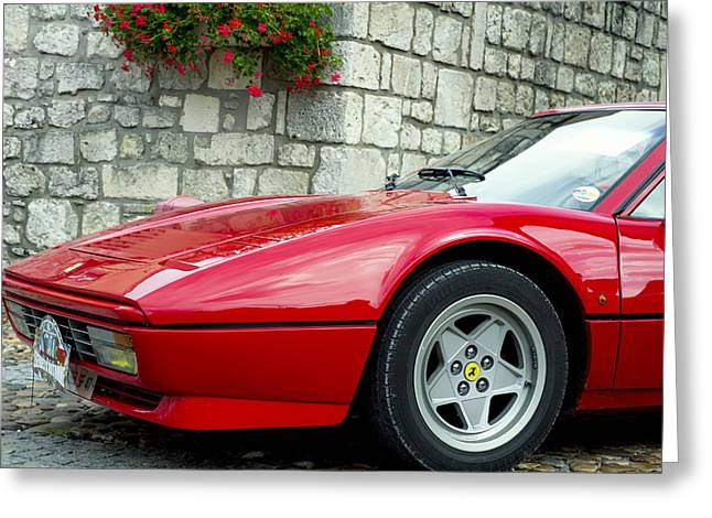 Magnum Pi Greeting Cards - Ferrari 308 Front Greeting Card by Nomad Art And  Design