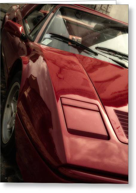 Magnum Pi Greeting Cards - Ferrari 308 in Red Greeting Card by Nomad Art And  Design
