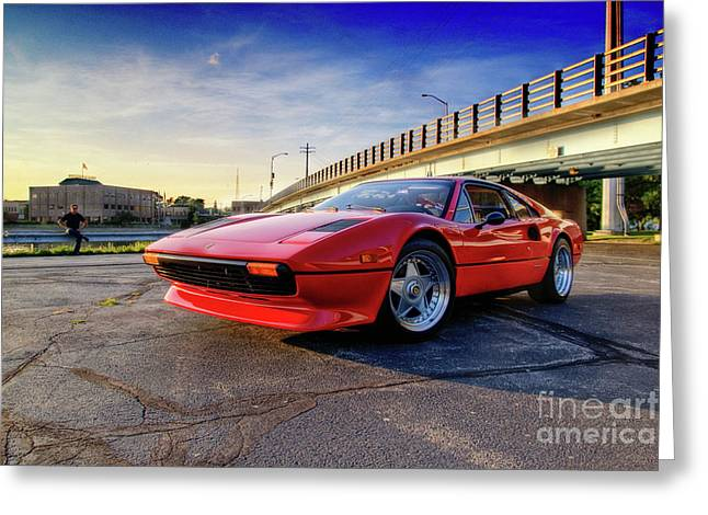 Menasha Greeting Cards - Ferrari 308 Greeting Card by Joel Witmeyer