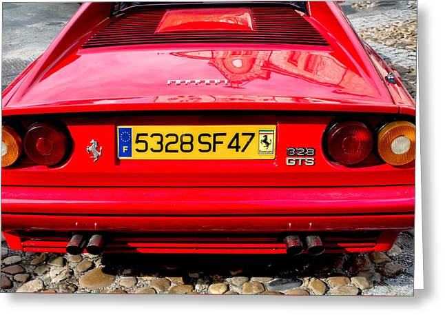 Magnum Pi Greeting Cards - Ferrari 308 Rear Greeting Card by Nomad Art And  Design