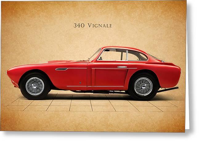 Transport Greeting Cards - Ferrari 340 Greeting Card by Mark Rogan