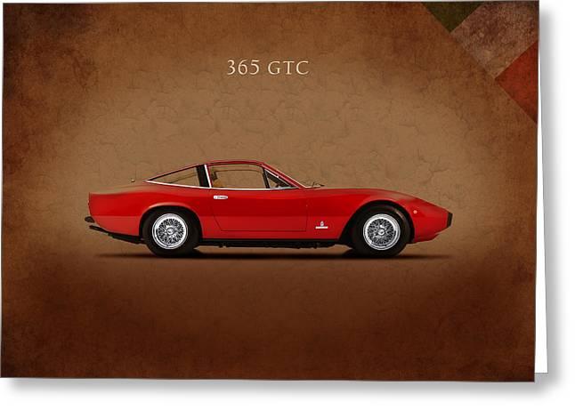 Classic Ferrari Greeting Cards - Ferrari 365 GTC Greeting Card by Mark Rogan