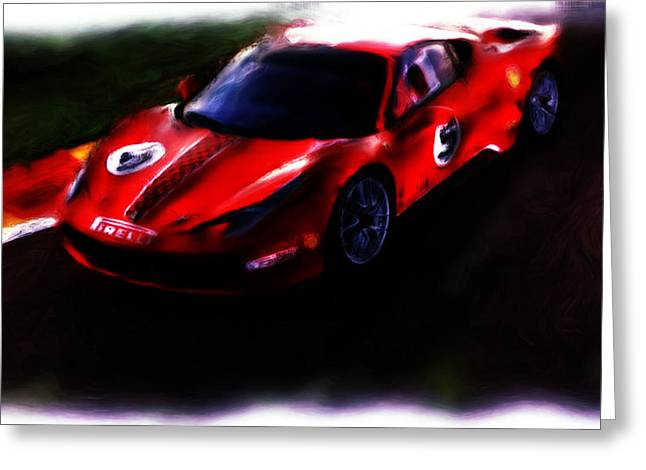 French Open Paintings Greeting Cards - Ferrari 458 Challenge Greeting Card by Brian Reaves