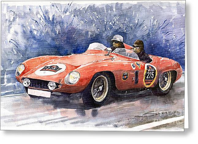 Autos Greeting Cards - Ferrari 500 Mondial Greeting Card by Yuriy  Shevchuk