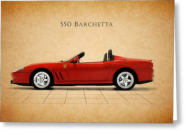 550 Greeting Cards - Ferrari 550 Barchetta Greeting Card by Mark Rogan