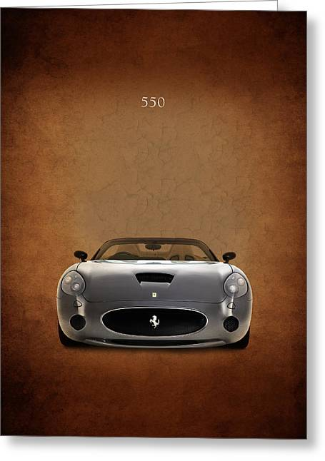 550 Greeting Cards - Ferrari 550 Greeting Card by Mark Rogan