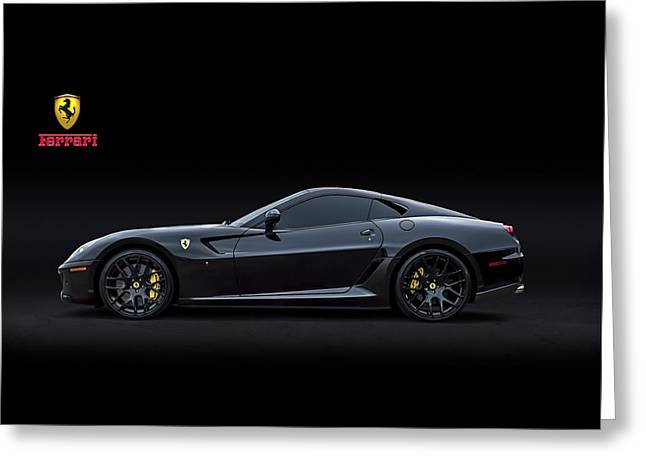 Sexy Digital Greeting Cards - Ferrari 599 GTB Fiorano Greeting Card by Douglas Pittman