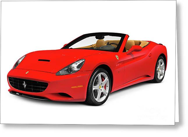 Top Model Greeting Cards - Ferrari California Greeting Card by Oleksiy Maksymenko